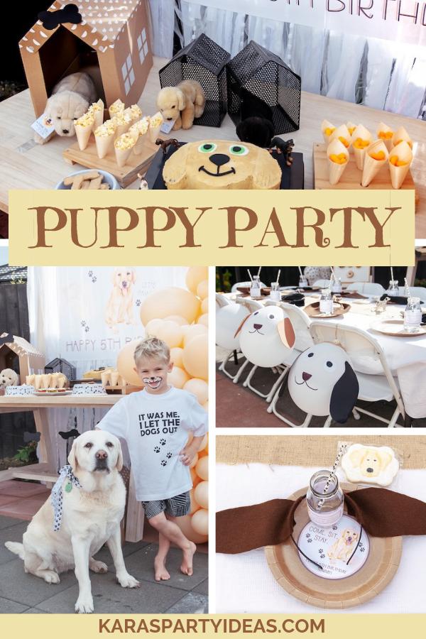 Puppy Party via Kara's Party Ideas - KarasPartyIdeas.com