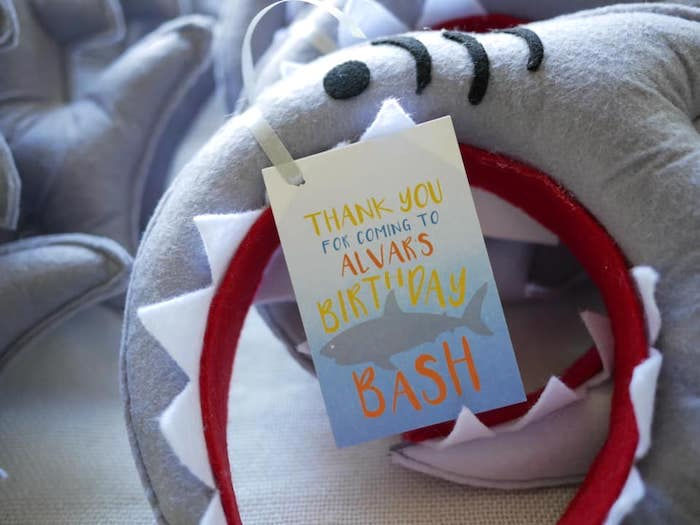 Shark Party Favor Tag from a Shark Attack Birthday Party on Kara's Party Ideas | KarasPartyIdeas.com (10)