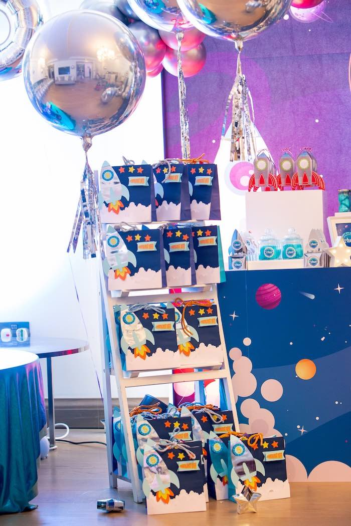 Space Gift Bags from a Space Adventure Birthday Party on Kara's Party Ideas | KarasPartyIdeas.com (5)