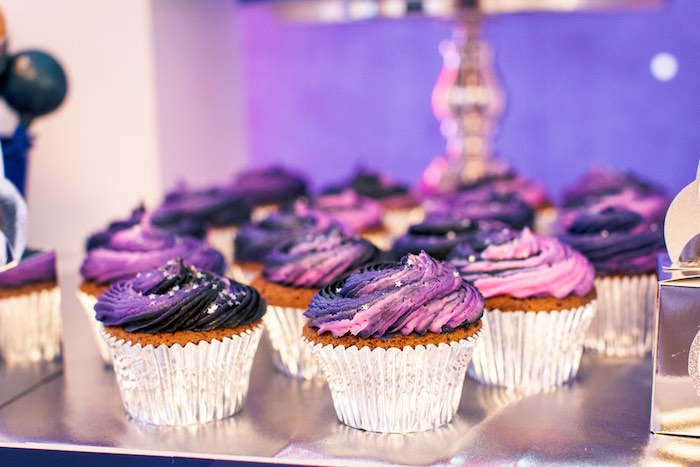 Space-inspired Cupcakes from a Space Adventure Birthday Party on Kara's Party Ideas | KarasPartyIdeas.com (13)