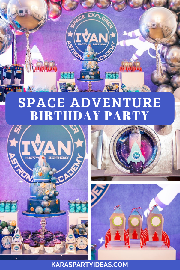 Space Adventure Birthday Party via Kara's Party Ideas - KarasPartyIdeas.com