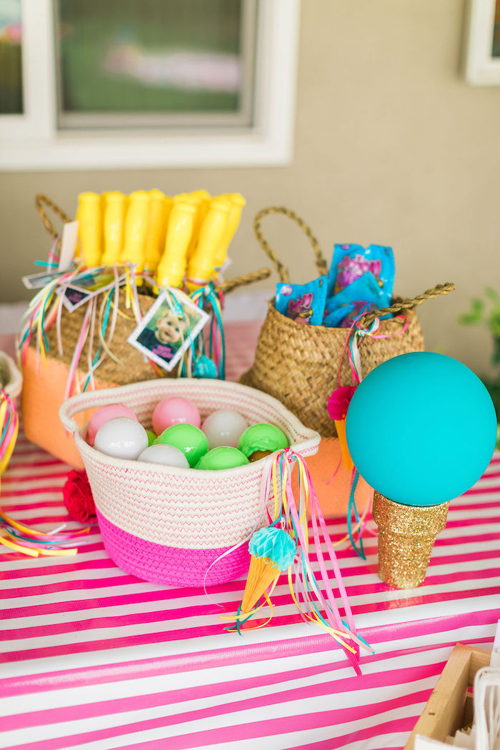 Favor Baskets from a Sprinkles and Ice Cream Birthday Party on Kara's Party Ideas | KarasPartyIdeas.com (35)