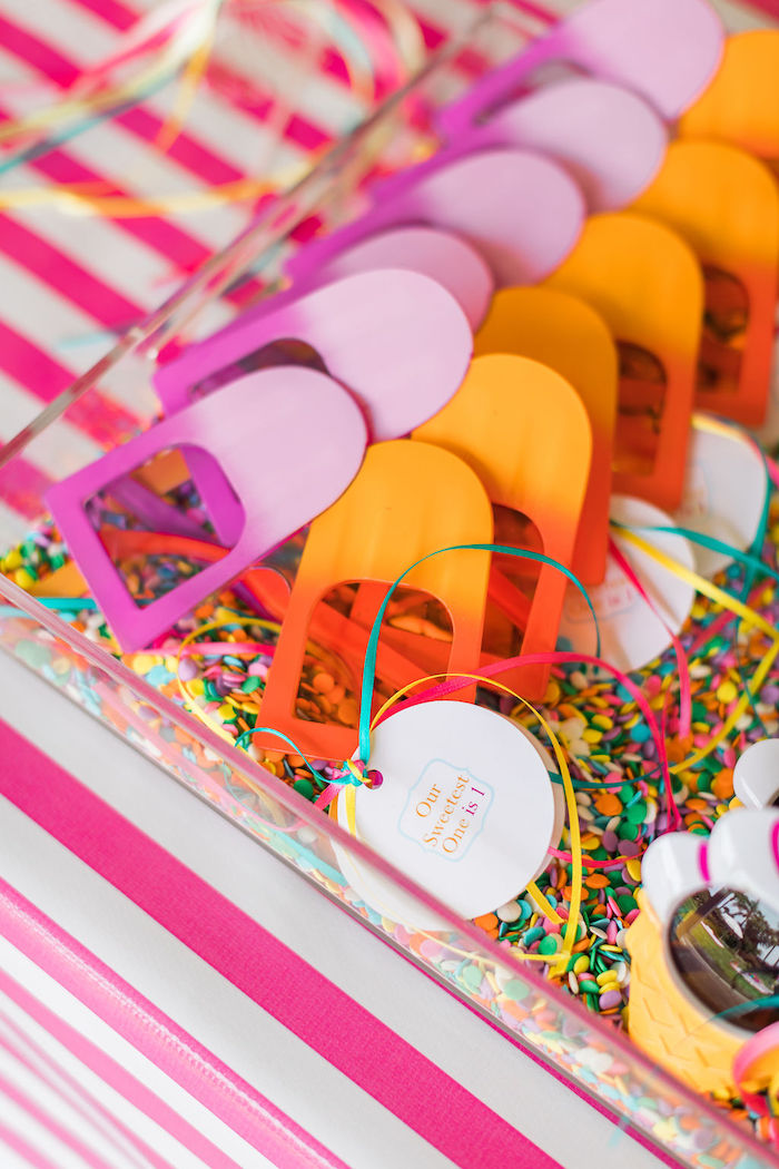 Popsicle Glasses from a Sprinkles and Ice Cream Birthday Party on Kara's Party Ideas | KarasPartyIdeas.com (33)