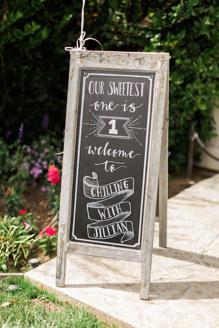 Chalkboard Sign from a Sprinkles and Ice Cream Birthday Party on Kara's Party Ideas | KarasPartyIdeas.com (45)