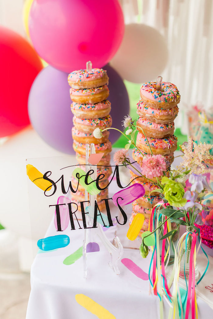 Sweet Treats - Acrylic Signage from a Sprinkles and Ice Cream Birthday Party on Kara's Party Ideas | KarasPartyIdeas.com (17)