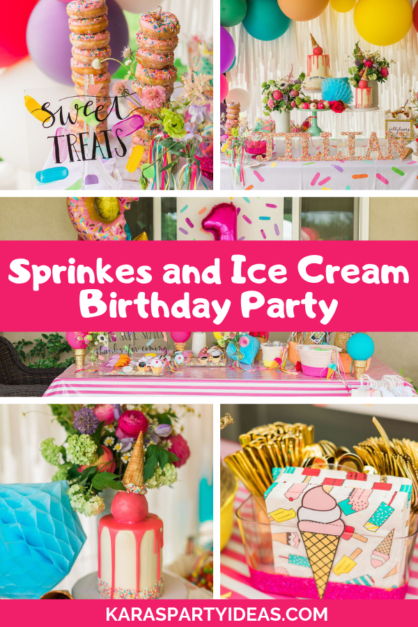 Sprinkles and Ice Cream Birthday Party via Kara's Party Ideas - KarasPartyIdeas.com