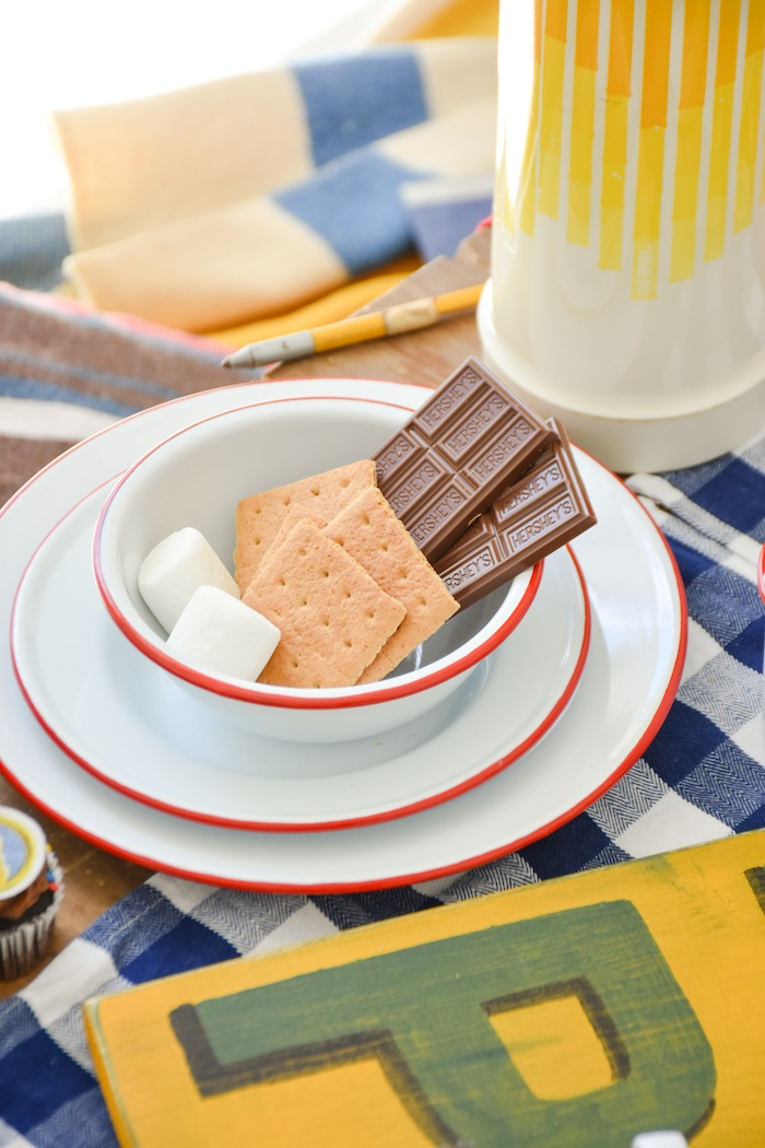 Summer Camp Party with International Delight S'mores Creamer by Kara's Party Ideas KarasPartyIdeas.com-1a