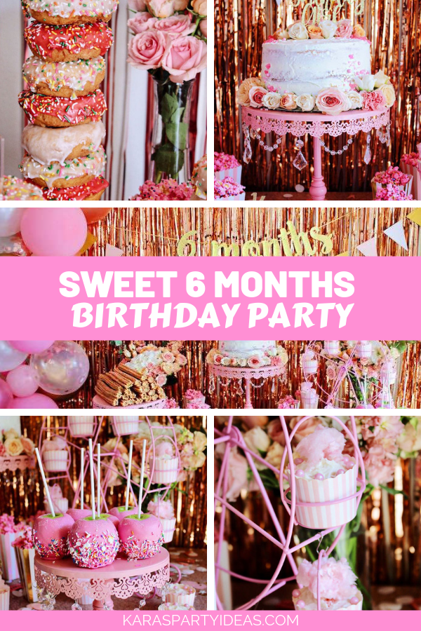 Sweet 6 Months Birthday Party via Kara's Party Ideas - KarasPartyIdeas.com
