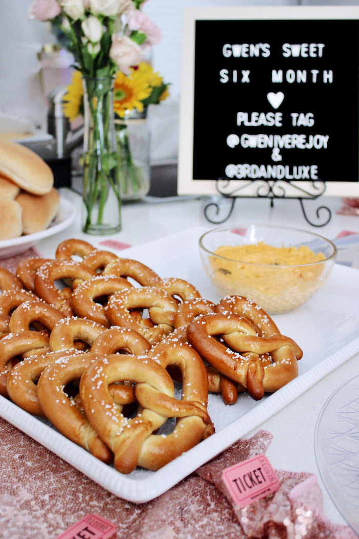 Pretzel Bar from a Sweet 6 Months Party on Kara's Party Ideas | KarasPartyIdeas.com (14)