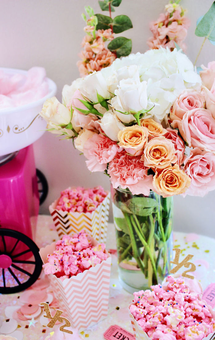 Blooms from a Sweet 6 Months Party on Kara's Party Ideas | KarasPartyIdeas.com (11)