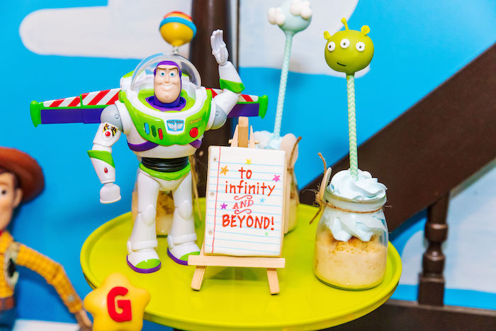 Buzz Lightyear Dessert Pedestal from a Toy Story Birthday Party on Kara's Party Ideas | KarasPartyIdeas.com (42)