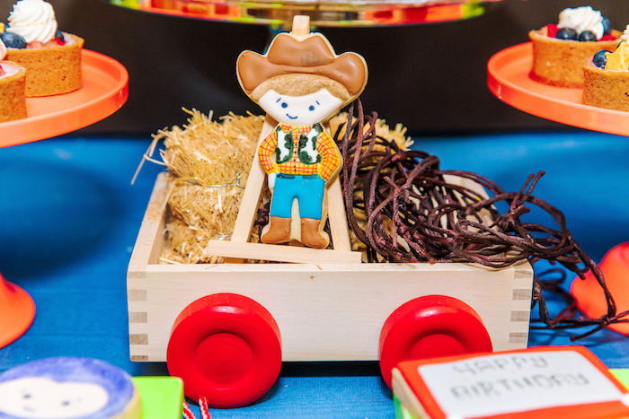 Sheriff Woody Cookie from a Toy Story Birthday Party on Kara's Party Ideas | KarasPartyIdeas.com (39)