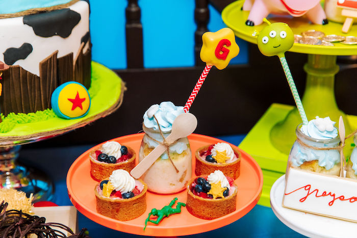Sheriff Woody Fruit Tarts from a Toy Story Birthday Party on Kara's Party Ideas | KarasPartyIdeas.com (37)