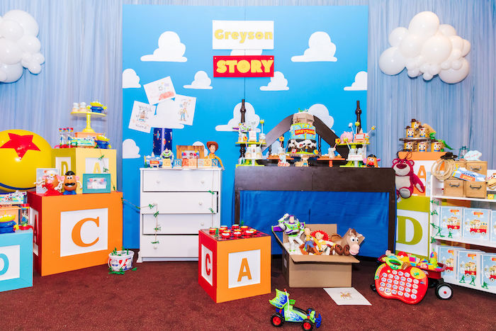 Andy's Bedroom Dessert Spread from a Toy Story Birthday Party on Kara's Party Ideas | KarasPartyIdeas.com (31)