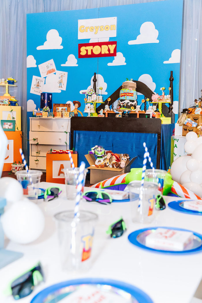 Toy Story Party Tables from a Toy Story Birthday Party on Kara's Party Ideas | KarasPartyIdeas.com (28)