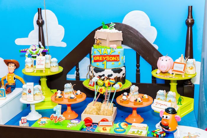 Toy Story Themed Dessert Table from a Toy Story Birthday Party on Kara's Party Ideas | KarasPartyIdeas.com (24)