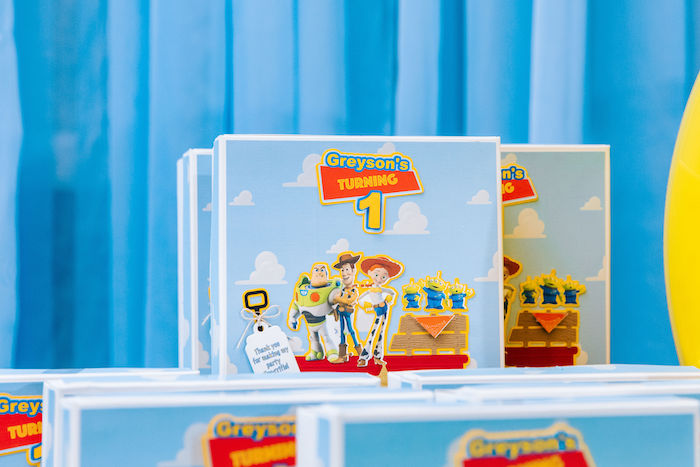 Toy Story Favor Boxes from a Toy Story Birthday Party on Kara's Party Ideas | KarasPartyIdeas.com (18)
