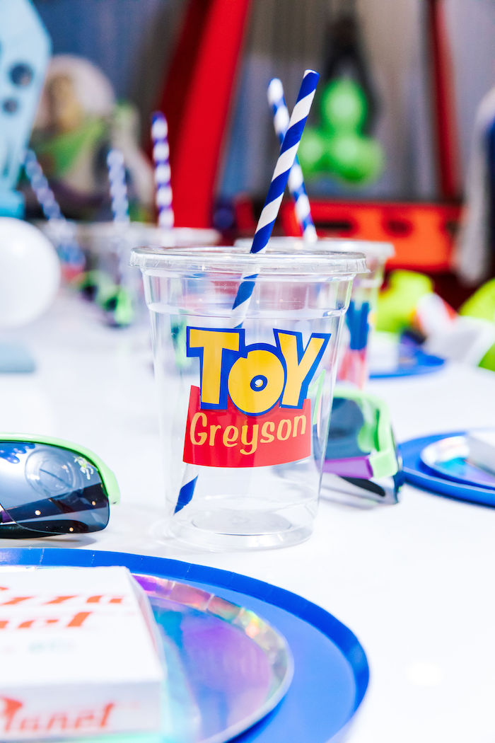 Custom Toy Story Cup from a Toy Story Birthday Party on Kara's Party Ideas | KarasPartyIdeas.com (14)