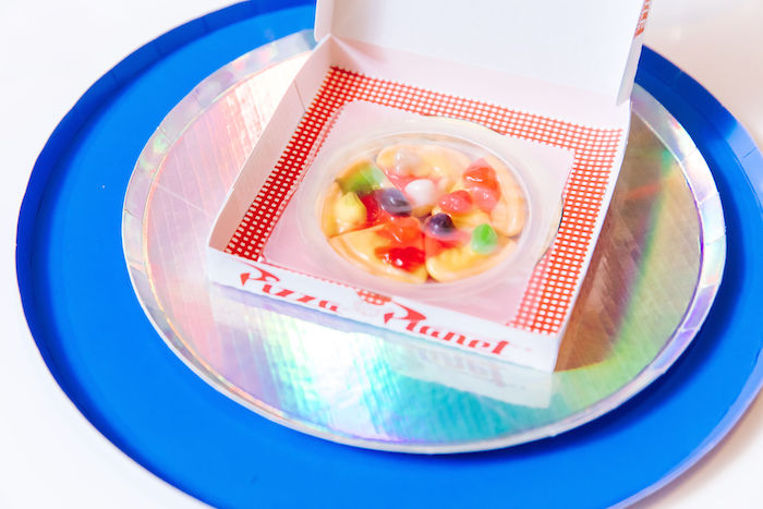 Gummy Pizza from a Toy Story Birthday Party on Kara's Party Ideas | KarasPartyIdeas.com (10)