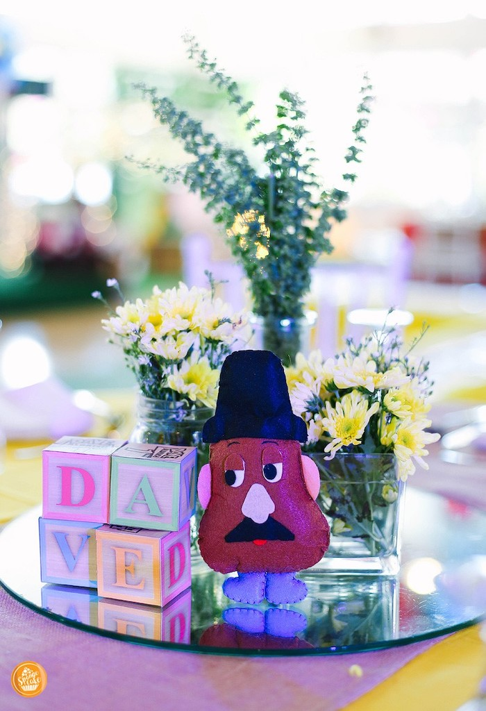 Mr. Potato Head Table Centerpiece from a Toy Story Birthday Party on Kara's Party Ideas | KarasPartyIdeas.com (24)