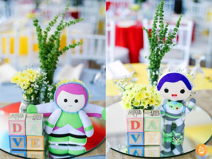 Toy Story Themed Table Centerpieces from a Toy Story Birthday Party on Kara's Party Ideas | KarasPartyIdeas.com (23)