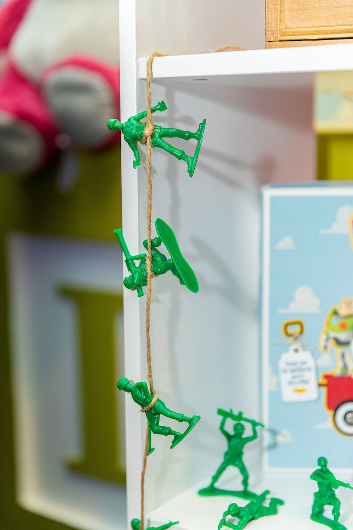 Toy Story Army Soldier Bunting from a Toy Story Birthday Party on Kara's Party Ideas | KarasPartyIdeas.com (51)