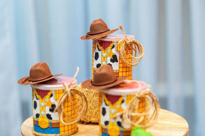 Sheriff Woody Favor Cans from a Toy Story Birthday Party on Kara's Party Ideas | KarasPartyIdeas.com (50)