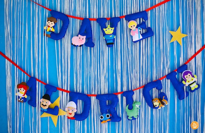 Toy Story Character + Name Banner from a Toy Story Birthday Party on Kara's Party Ideas | KarasPartyIdeas.com (21)