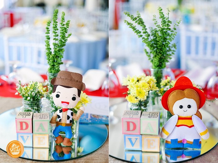 Toy Story Themed Table Centerpieces from a Toy Story Birthday Party on Kara's Party Ideas | KarasPartyIdeas.com (19)