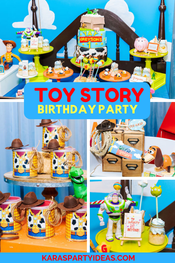 Brilliant Karas Party Ideas Toy Story Birthday Party Karas Party Ideas Personalised Birthday Cards Rectzonderlifede