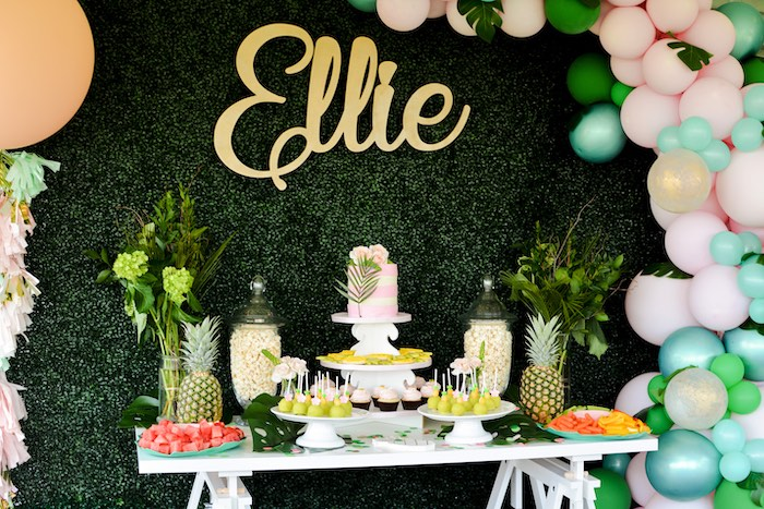 Tropical Dessert Table from a Tropical Summer Party on Kara's Party Ideas | KarasPartyIdeas.com (10)