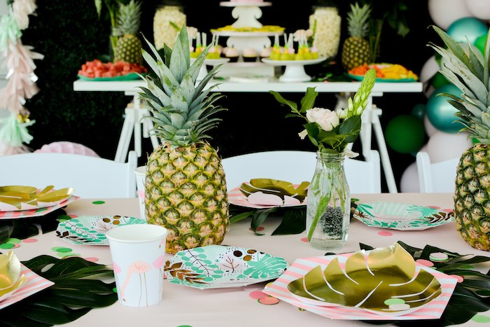 Tropical Party + Guest Table from a Tropical Summer Party on Kara's Party Ideas | KarasPartyIdeas.com (9)