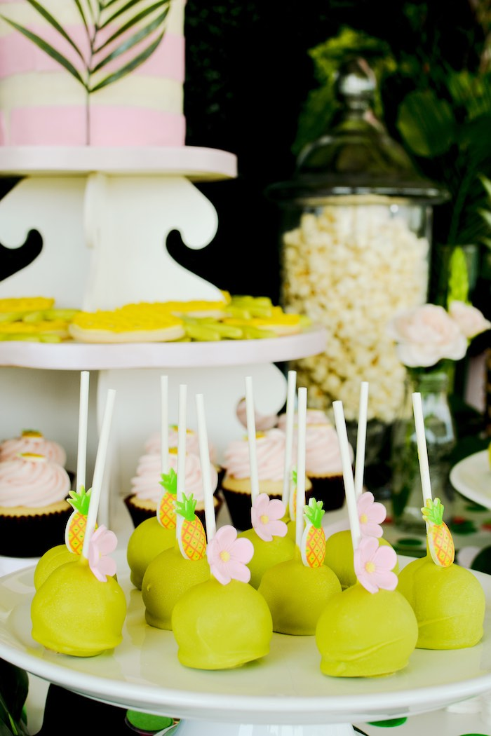 Tropical Cake Pops from a Tropical Summer Party on Kara's Party Ideas | KarasPartyIdeas.com (19)