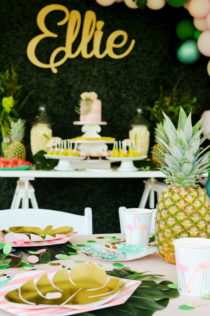 Tropical Party Tables from a Tropical Summer Party on Kara's Party Ideas | KarasPartyIdeas.com (18)