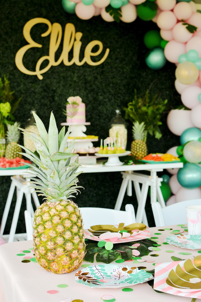 Tropical Party Tables from a Tropical Summer Party on Kara's Party Ideas | KarasPartyIdeas.com (17)