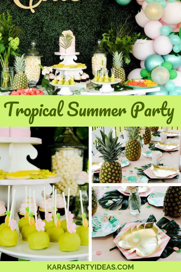Tropical Summer Party via KarasPartyIdeas - KarasPartyIdeas.com