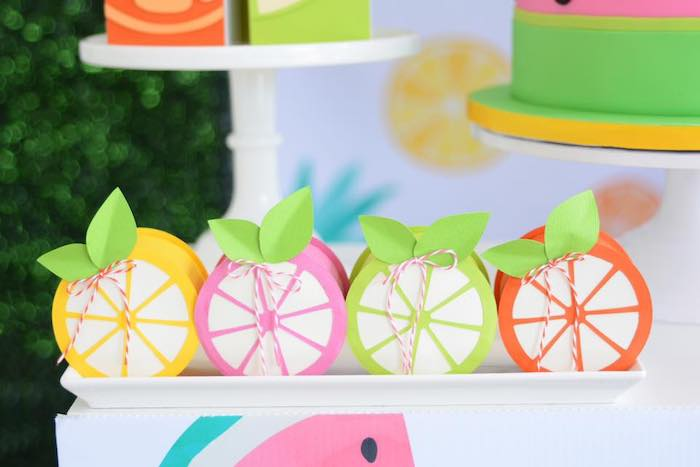 Fruit-inspired Favors from a Tutti Frutti Pool Party on Kara's Party Ideas | KarasPartyIdeas.com (11)