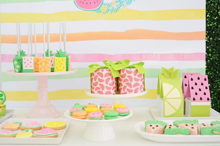 Tutti Frutti-inspired Sweets + Favors from a Tutti Frutti Pool Party on Kara's Party Ideas | KarasPartyIdeas.com (10)
