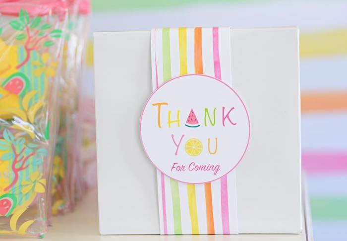 Tutti Frutti-inspired Gift Bag from a Tutti Frutti Pool Party on Kara's Party Ideas | KarasPartyIdeas.com (19)