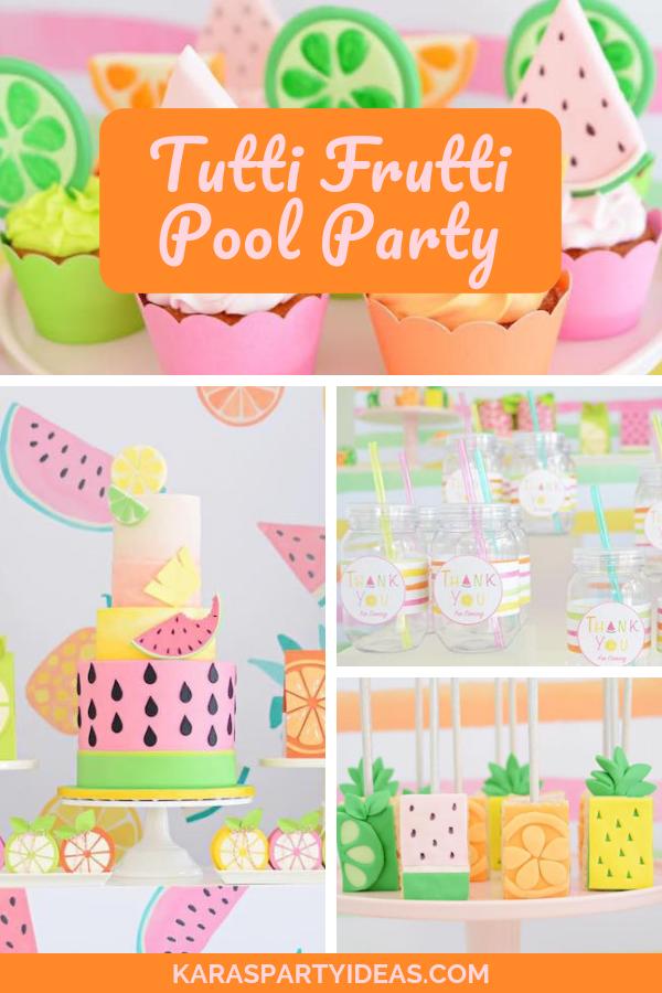 Tutti Frutti Pool Party via Kara's Party Ideas - KarasPartyIdeas.com