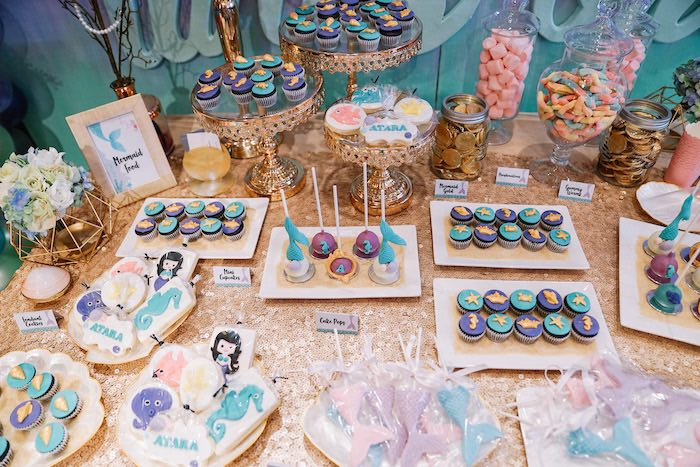 Under the Sea Themed Desserts + Sweet Table from an Under the Sea Birthday Party on Kara's Party Ideas | KarasPartyIdeas.com (21)