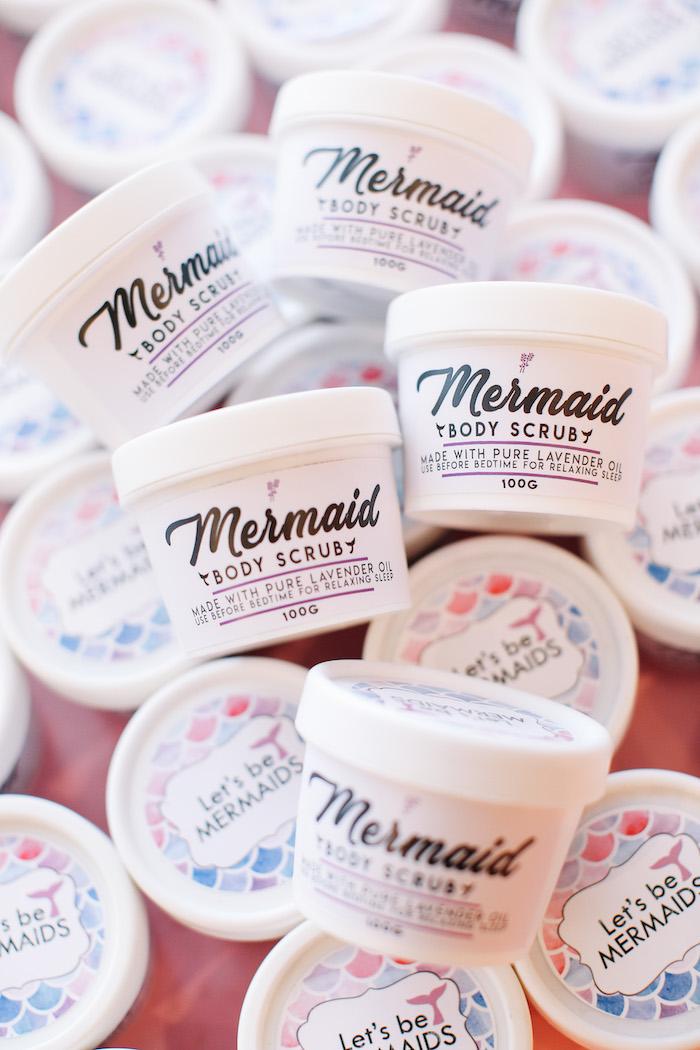 Mermaid Body Scrub Favors from an Under the Sea Birthday Party on Kara's Party Ideas | KarasPartyIdeas.com (28)