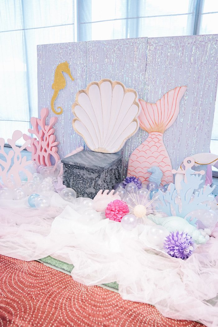Under the Sea Photo Booth + Stage from an Under the Sea Birthday Party on Kara's Party Ideas | KarasPartyIdeas.com (26)