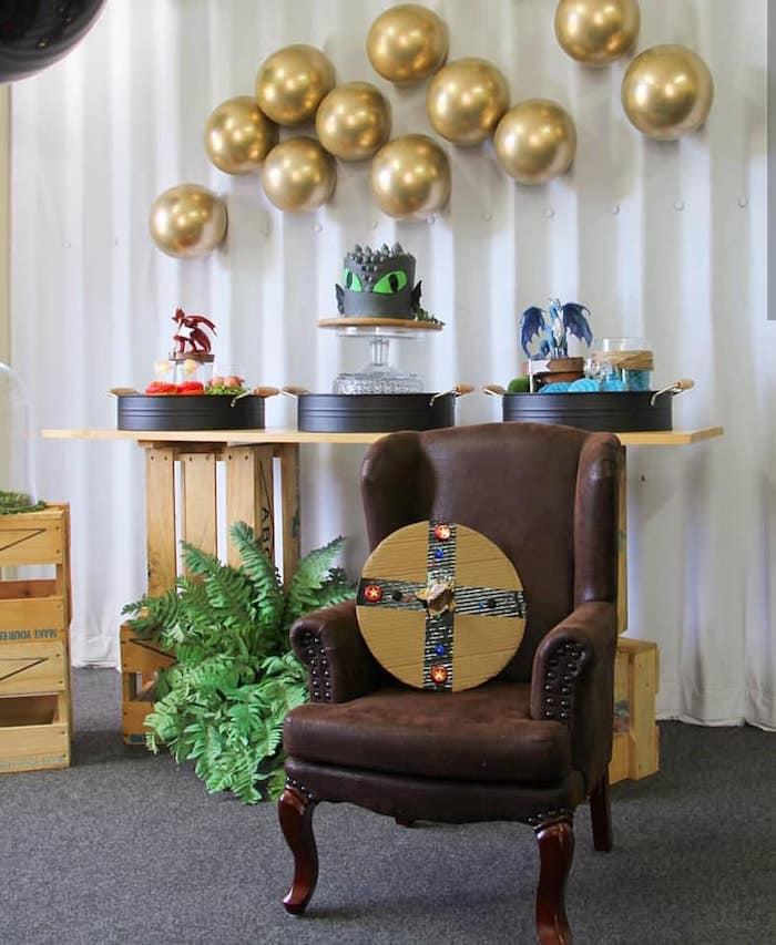 Vikings and Dragons Birthday Party on Kara's Party Ideas | KarasPartyIdeas.com (14)