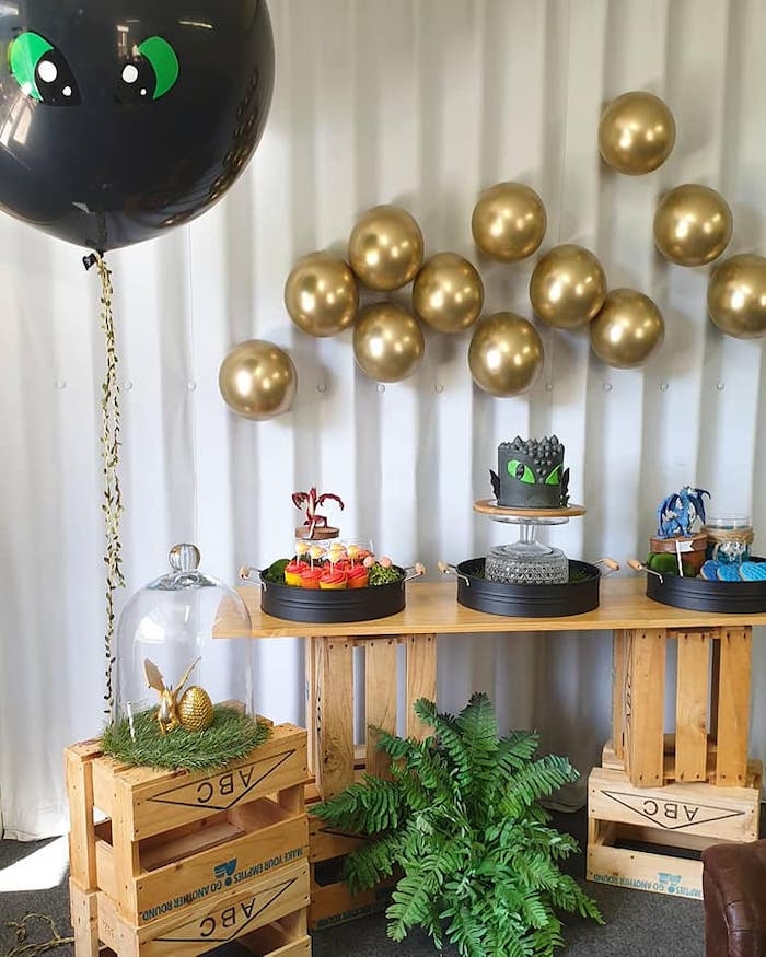 Dragon Themed Dessert Table from a Vikings and Dragons Birthday Party on Kara's Party Ideas | KarasPartyIdeas.com (10)