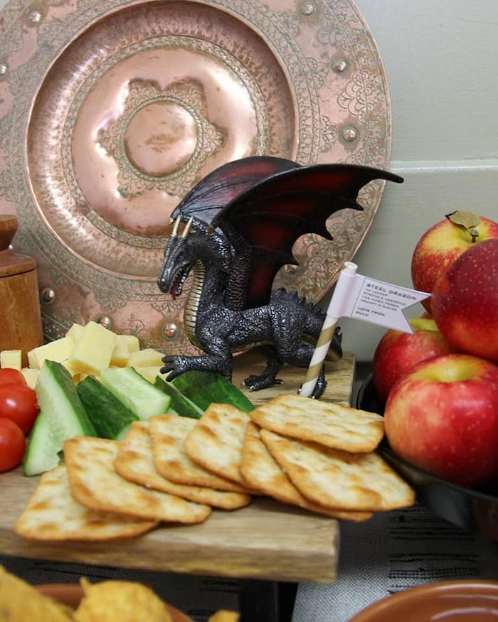 Charcuterie Plate from a Vikings and Dragons Birthday Party on Kara's Party Ideas | KarasPartyIdeas.com