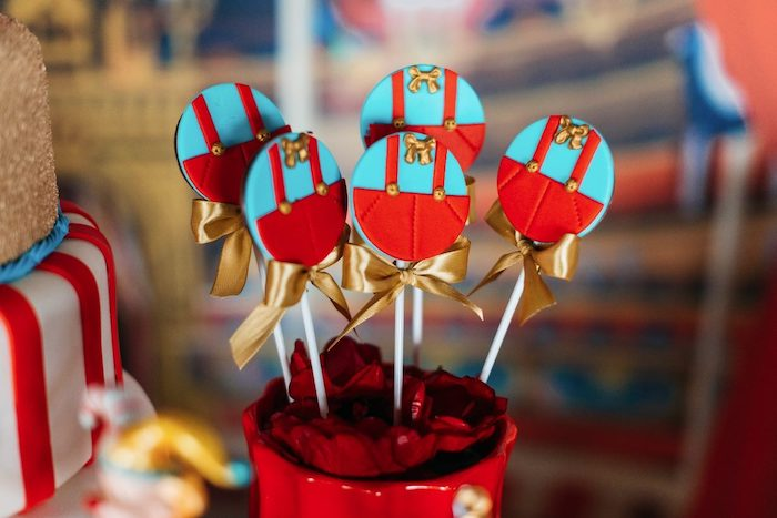 Clown Front Lollipops from a Vintage Circus Birthday Party on Kara's Party Ideas | KarasPartyIdeas.com (22)