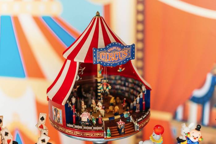 Vintage Big Top Circus Tent Prop from a Vintage Circus Birthday Party on Kara's Party Ideas | KarasPartyIdeas.com (15)
