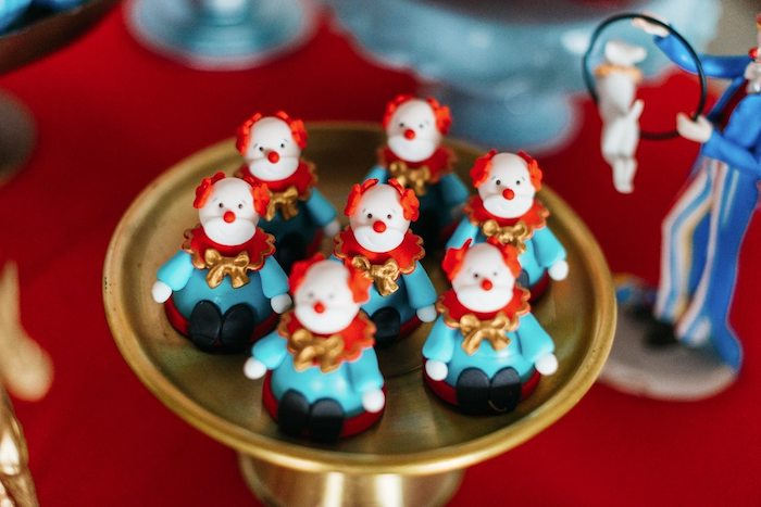 Clown Gumballs from a Vintage Circus Birthday Party on Kara's Party Ideas | KarasPartyIdeas.com (9)