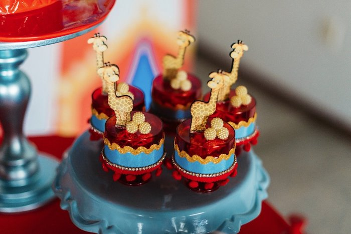 Giraffe-topped Favor Dishes from a Vintage Circus Birthday Party on Kara's Party Ideas | KarasPartyIdeas.com (28)